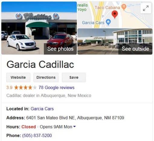 Visit Garcia Cadillac