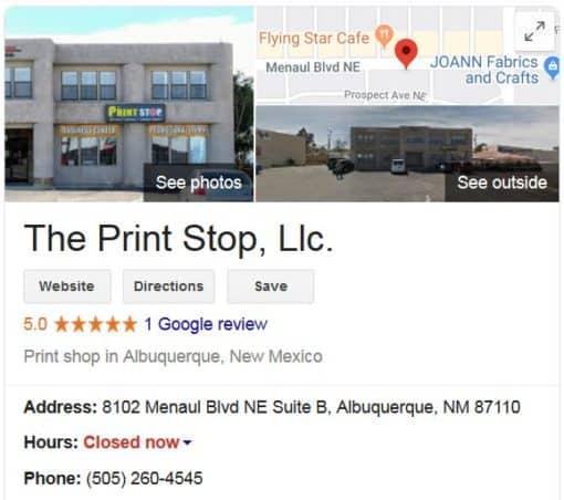 Visit The Print Stop