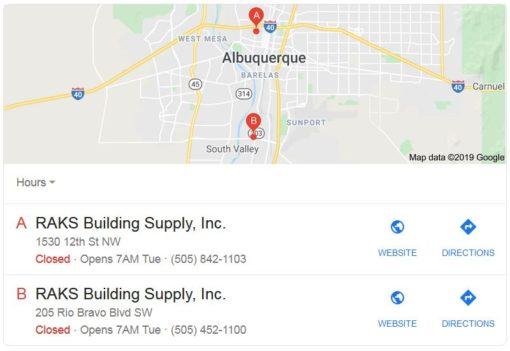 Visit Raks Building Supply - Albuquerque