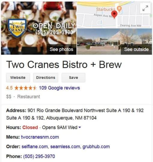 Visit Two Cranes